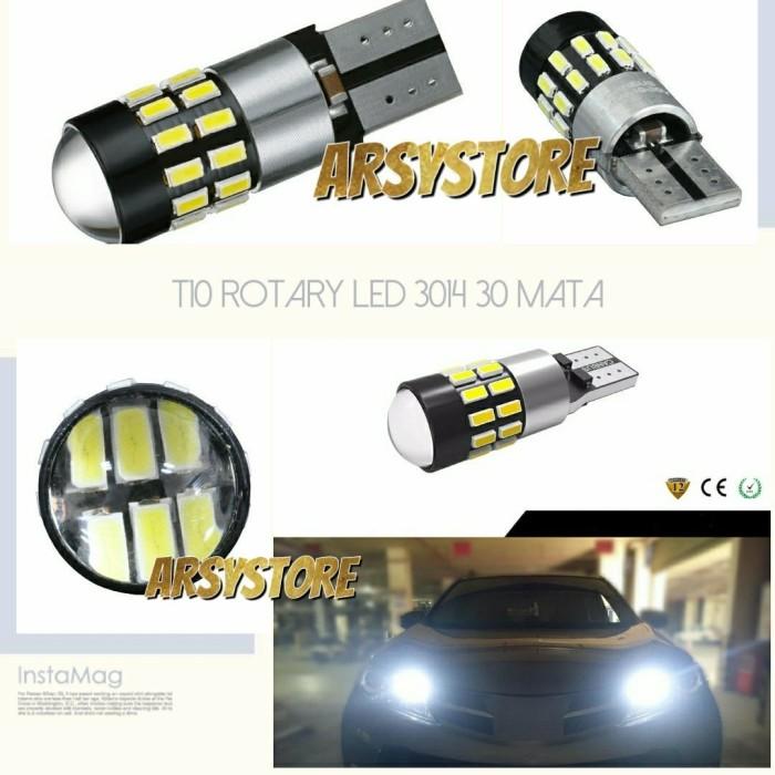Lampu LED Senja T10 Rotary 30 mata 3014 CANBUS 12V-24V Mobil Motor