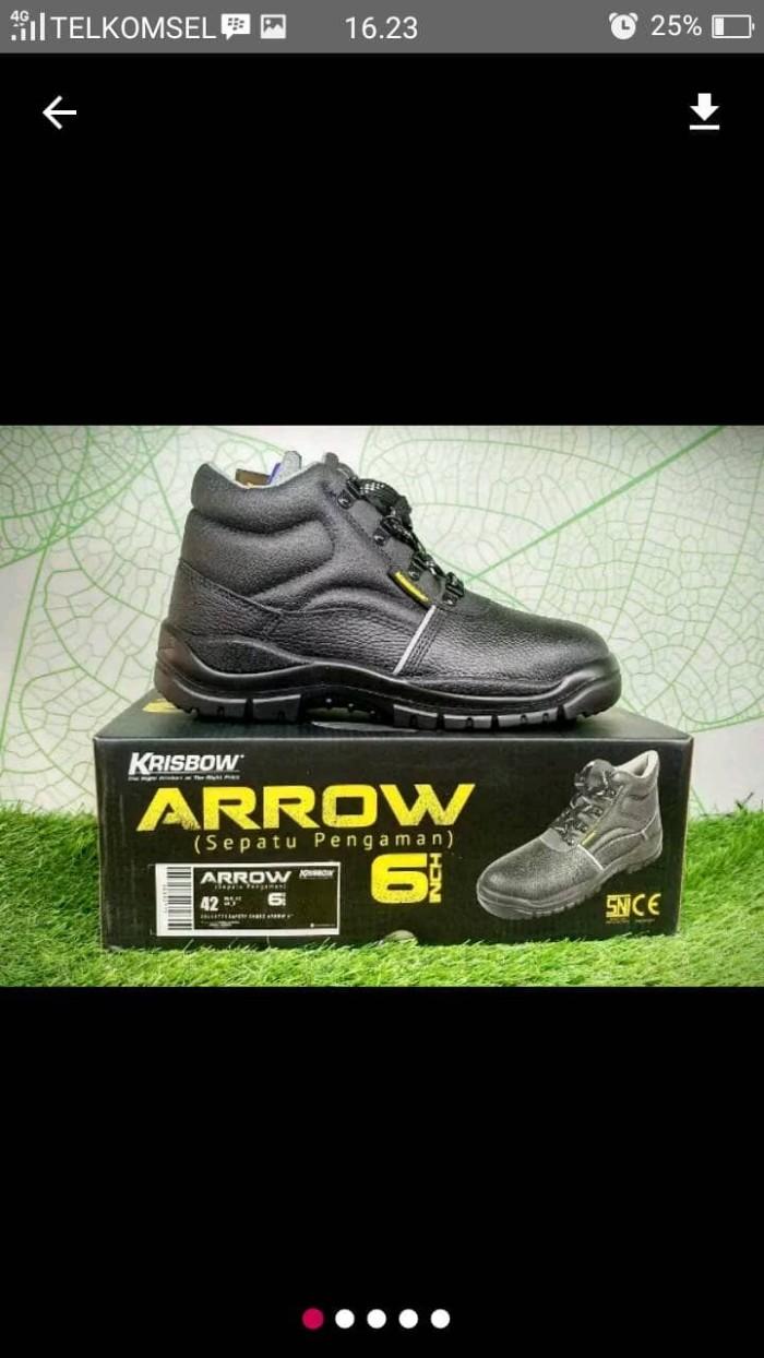 Jual Sepatu Safety Krisbow Arrow 6inch  b348fd2a2e