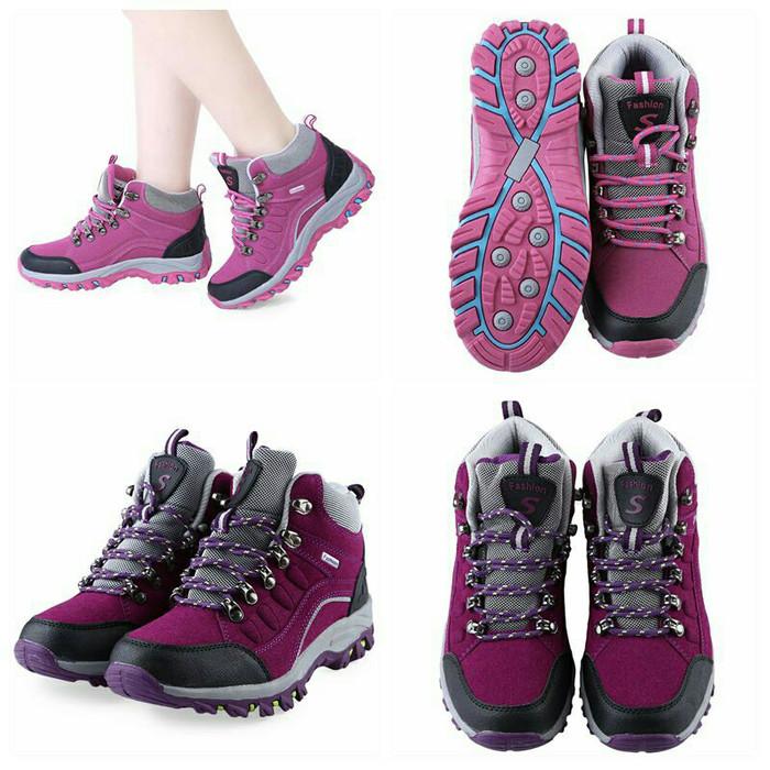harga Sepatu boots hiking sepatu gunung import sepatu gunung wanita  Tokopedia.com f563267e3f