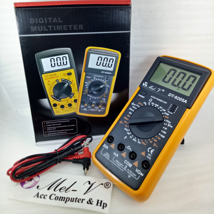 Foto Produk Multitester / Multimeter / Avometer DIGITAL DT-9205A DT9205A dari Mel-v Com