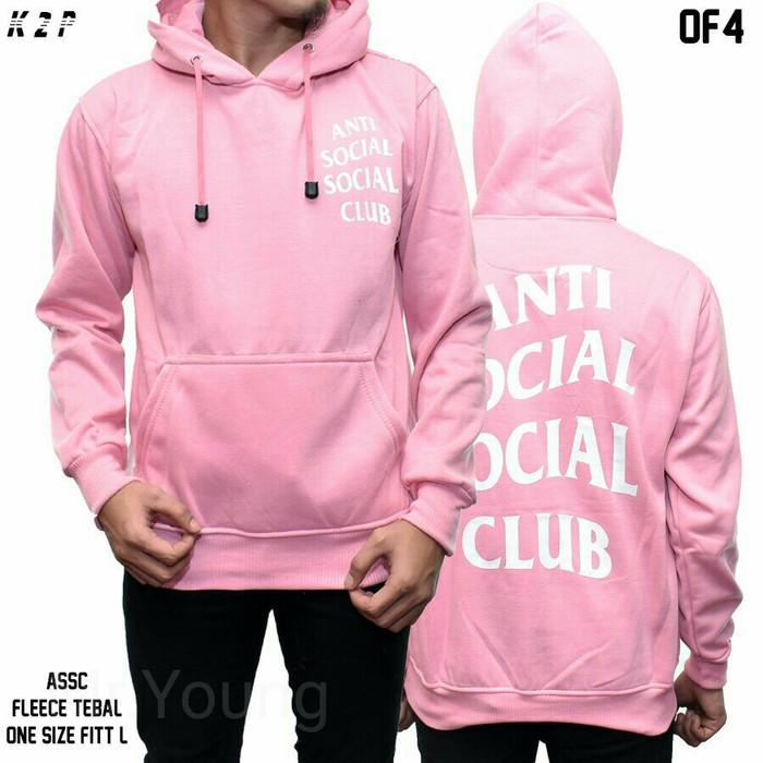 7dd6b8fe58ff Jual jaket hoodie pink assc   anti social social club   jaket distro ...