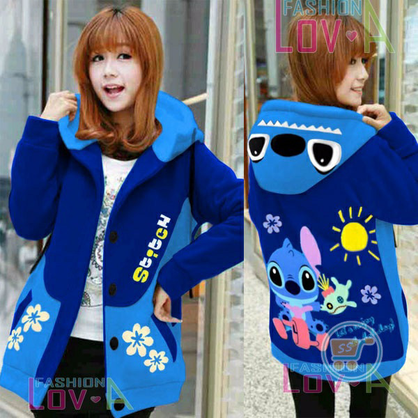 harga Sweater outerwear jaket stitch enjoy hoodie korea stich Tokopedia.com