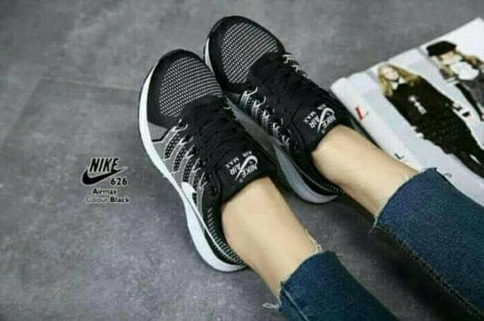 harga Sepatu olahraga hitam wanita cewek cewe sekolah sport nike adidas boot Tokopedia.com