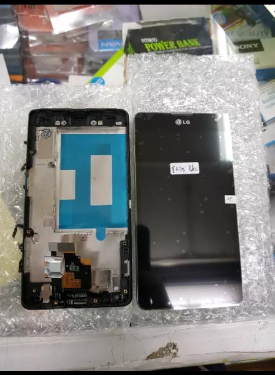 Lcd 1set plus frame lg e975 optimus g original black
