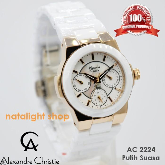 ... Gold Putih Source harga Jam tangan wanita alexandre christie 2224 keramik putih mewah original Tokopedia com