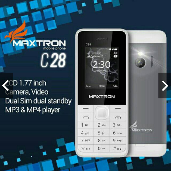 harga Hp maxtron c28 baru model nokia 230 layar 1.8in mirip prince pc999 Tokopedia.com