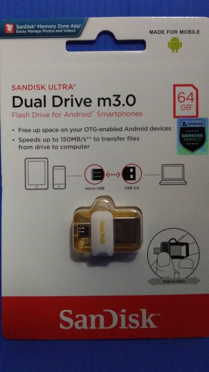 Jual Sandisk Flashdisk Otg M30 Gold 64gbspecial Edition Flash Disk 64gb