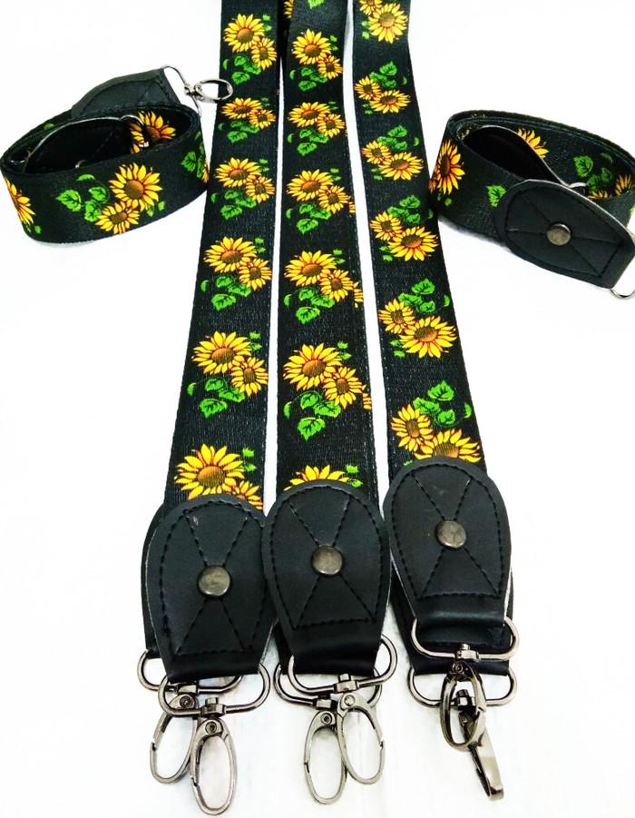 Strap bag Tali tas trendy wanita motif bunga matahari korea