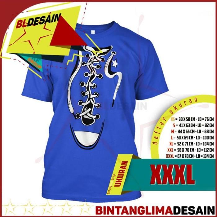 Jual Baru Bigsize Tshirt Kaos Sepatu Converse Baju Kaos Distro Seri ... 4c9826bbf7
