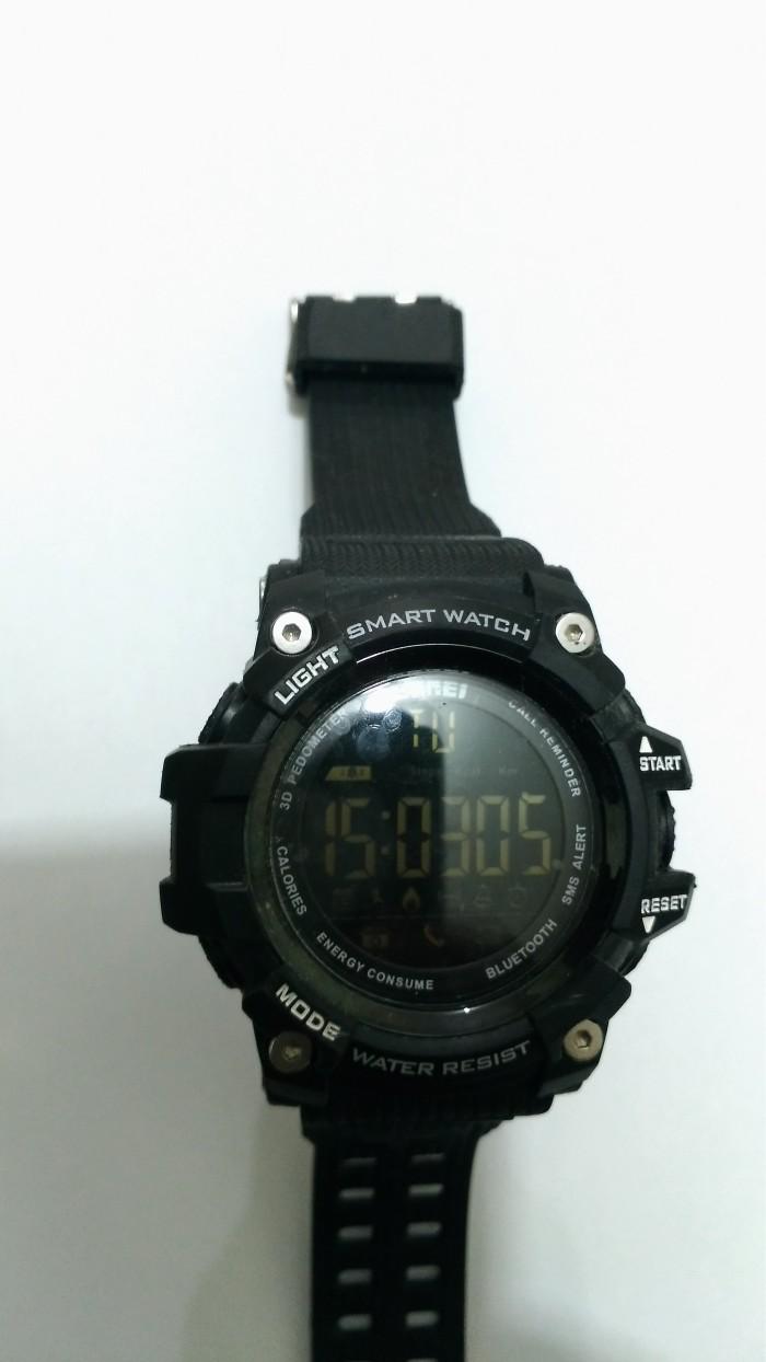 ... SKMEI Jam Tangan Olahraga Smartwatch Bluetooth DG1227 BL Black