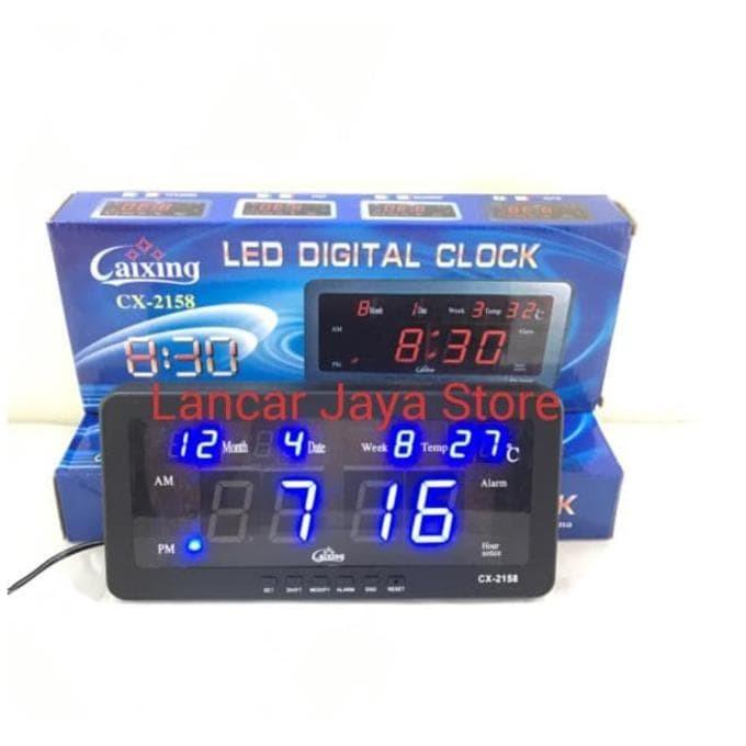 Caixing Jam Dinding Digital Cx2158 Biru - Spesifikasi Harga Produk ... 8f4ce206cd