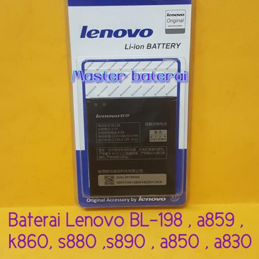 Baterai Battery Lenovo BL198 BL 198 K860 S880 S890 Ori 99 .