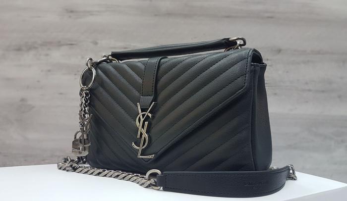 Jual YSL Classic College Monogram 25cm Grained Leather   Tas Pesta ... b5734ace69