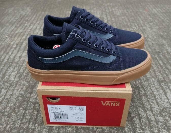 Jual Free Bonus !!! Sepatu Murah Vans Old Skool Navy Gum BNIB Cina - Navy a615dfc77