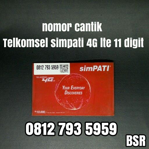 nomor cantik Telkomsel simpati 11 digit 4G lte kartu perdana abab 959