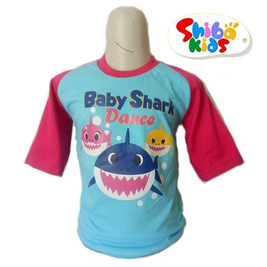 TERFAVORIT KAOS ANAK KARAKTER KARTUN BABY SHARK BAJU ANAK PEREMPUAN ac741e04b2