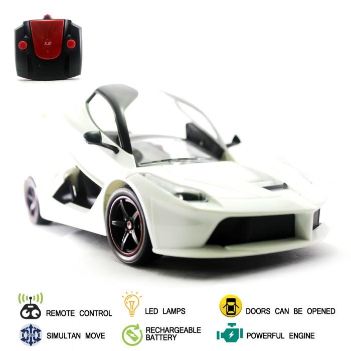 Foto Produk Mainan Mobil Remote Control RC Yellow La Ferrari Neo - Putih dari Mafemale