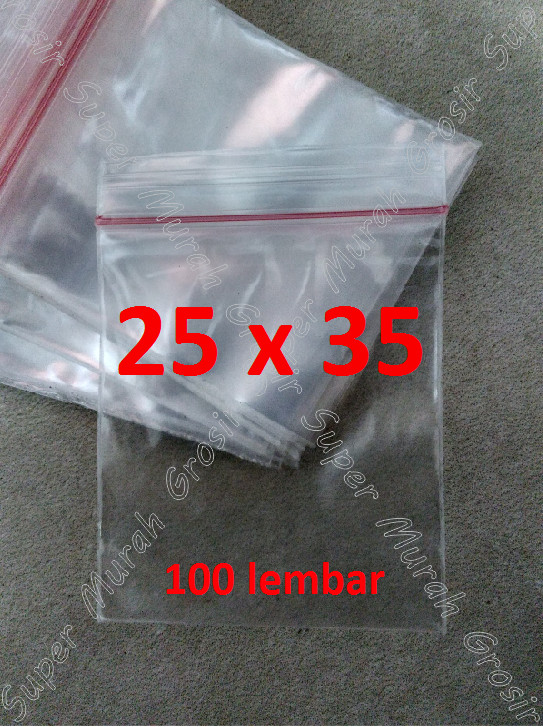 harga Plastik klip 25x35 cm plastic clip seal zipper bag sealer ziplock pe Tokopedia.com