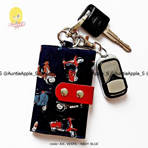 harga Dompet kunci mobil motor/dompet kunci/key holder vintage vespa navy Tokopedia.com
