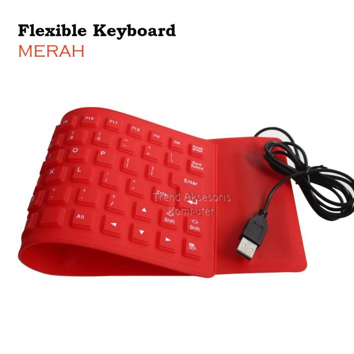 Flexible Keyboard Silicon Mini USB - Hitam