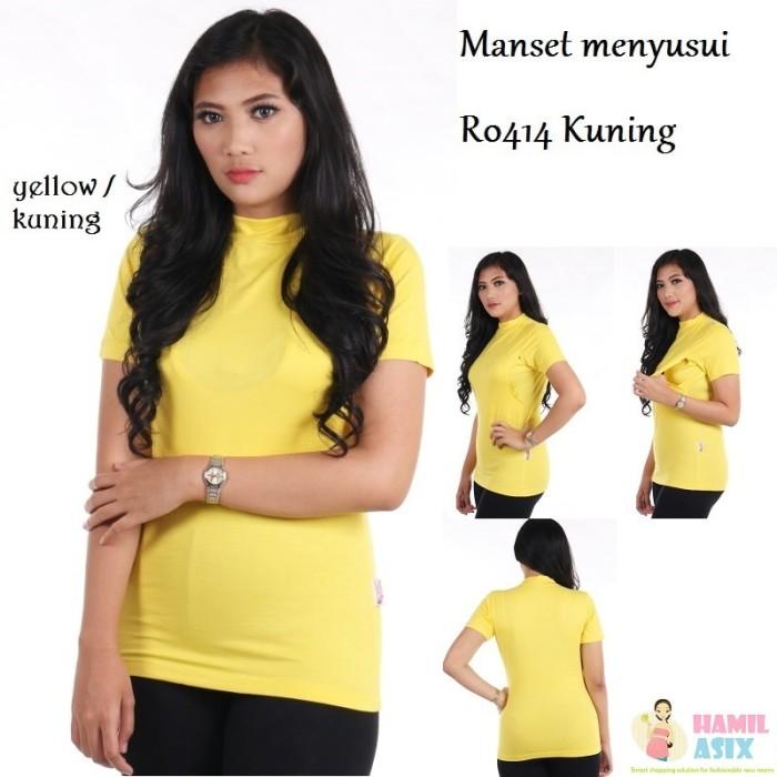 harga R0414 kaos menyusui turtle neck estilamama kuning s/m/l/xl Tokopedia.com