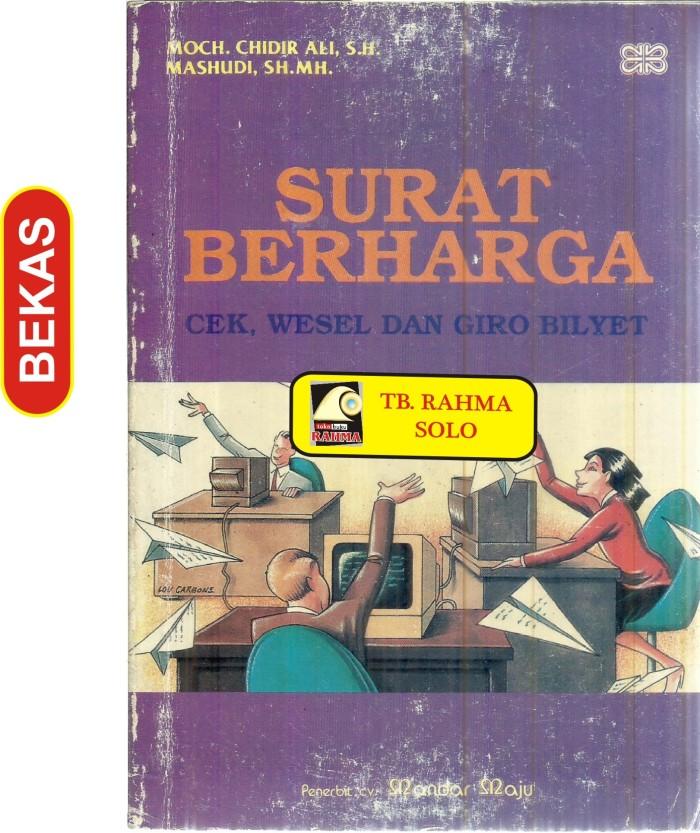 Jual Bl 6776 Surat Berharga Cek Wesel Giro Bilyet Mochchidir Alish D Kota Yogyakarta Toko Buku Rahma Tokopedia