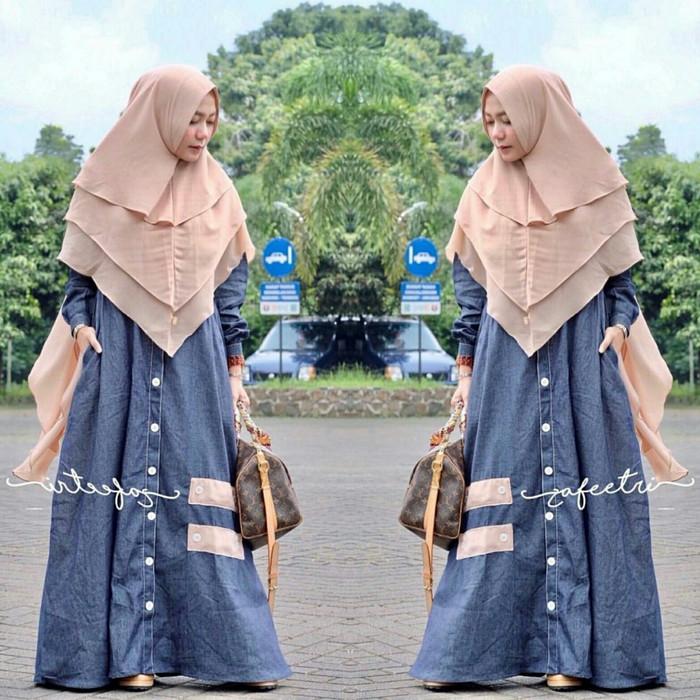 Baju gamis murah/busana muslim/zafeetri syari sy/dresses/gamis bawah