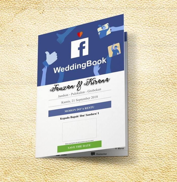 Jual Undangan Pernikahan Tema Facebook Syamoffset Tokopedia