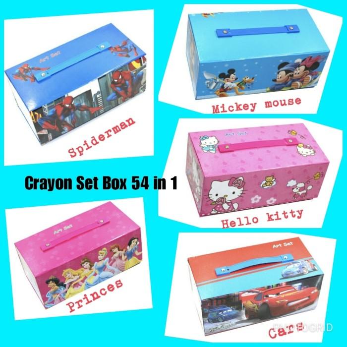 Jual Alat Menggambar Mewarnai Anak Crayon Set Box 54 In 1 Karakter