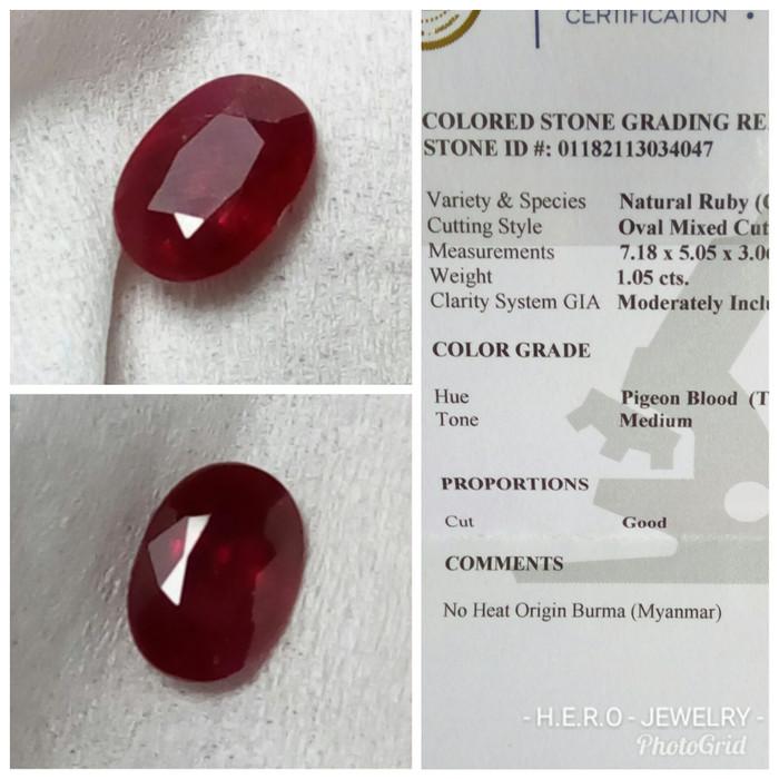 harga Extreme rare - no heat pigeon blood ruby birma # batu merah delima Tokopedia.com