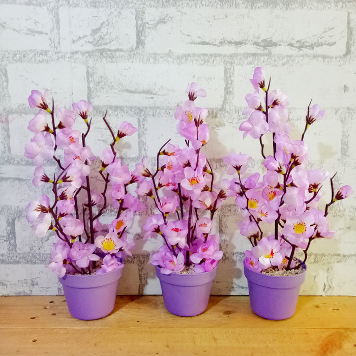 Jual bunga plastik artificial palsu dekorasi bunga sakura imlek ... eafa2b4826