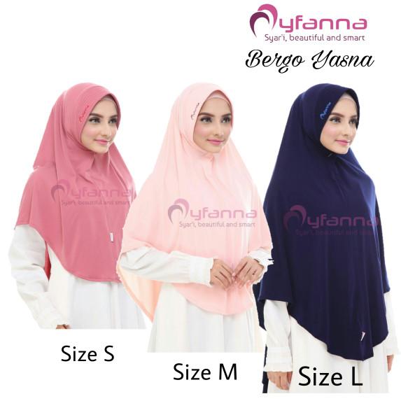 Jual Jilbab Bergo Syari Yasna Size M By Myfanna Rumah Hijab