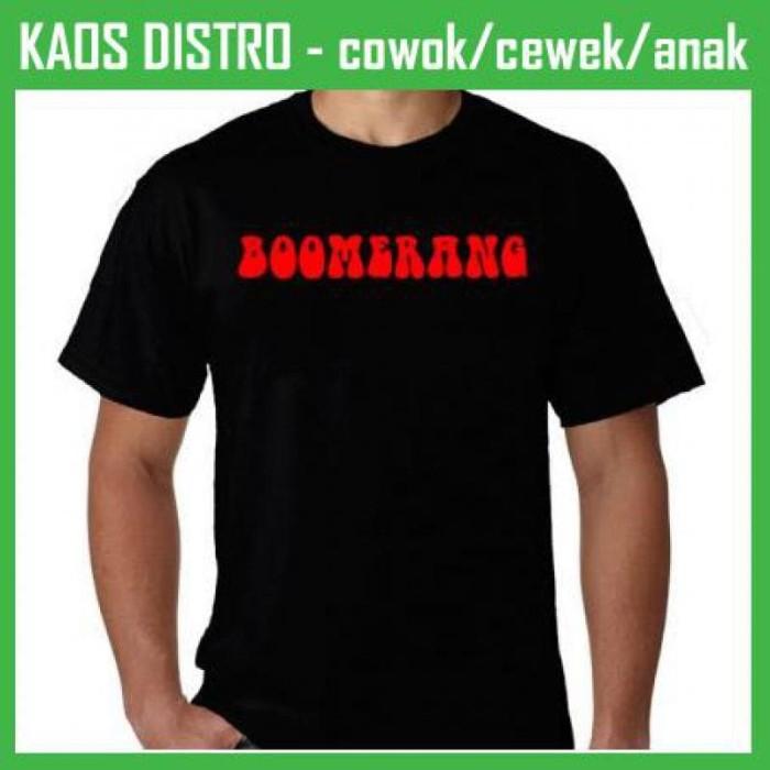 harga Kaos band boomerang pq32 oblong distro Tokopedia.com