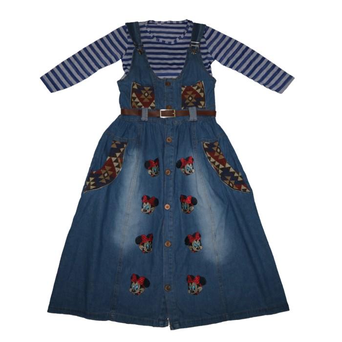 Jual Dress Gamis Levis Mini Mouse Anak Perempuan Umur 6 12 Tahun