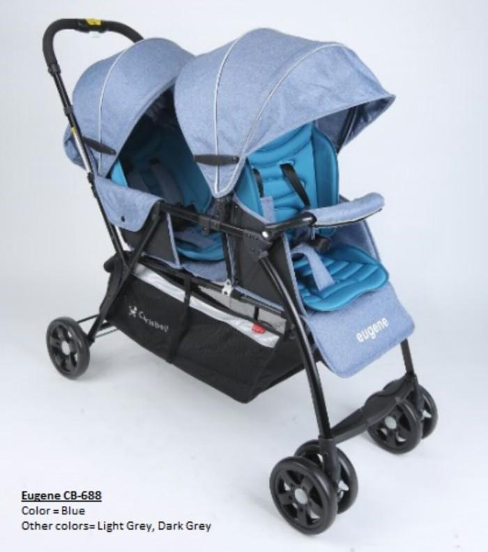harga Chris bell eugene cb688 twin sharing stroller Tokopedia.com