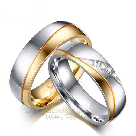 harga Cincin kawin sepasang emas putih cincin tunangan mas 375 Tokopedia.com