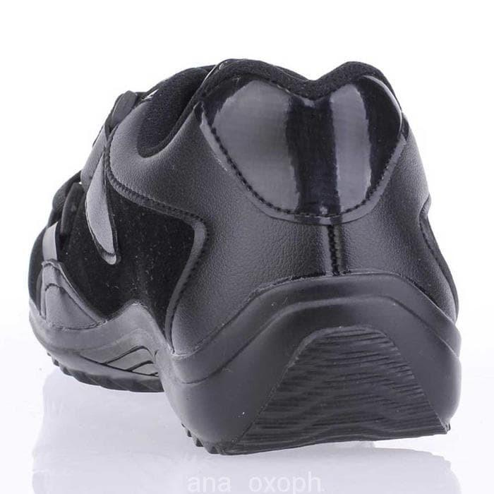 WE301 Sepatu Sekolah Anak Laki-Laki Cowok Casual Warna Hitam CAT 071 C 9af2fd1686