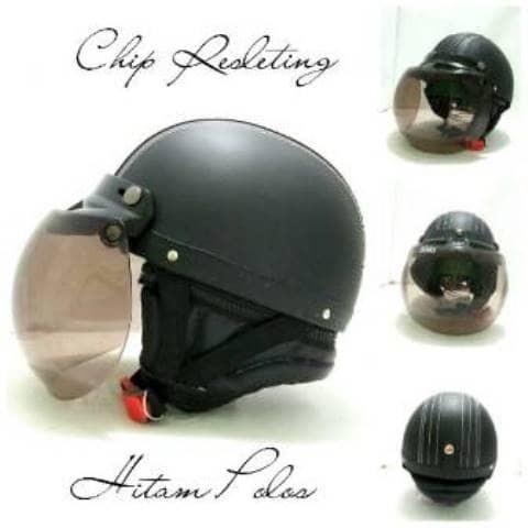 Katalog Helm Retro Chip Hitam Travelbon.com