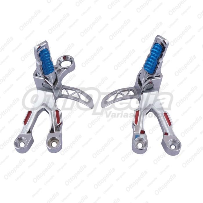 harga Footstep / footrest belakang gantung tad satria fu 150 chrome biru Tokopedia.com
