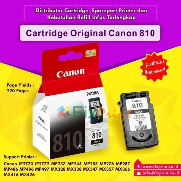 harga Cartridge canon pg810 black original cartridge canon ip2770 mp258 dus Tokopedia.com