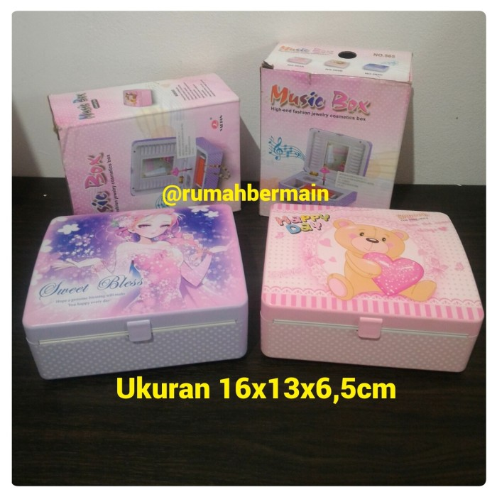 Kotak Musik Bentuk Cosmetics Box Ballerina Pink Music Box Hadiah Ultah