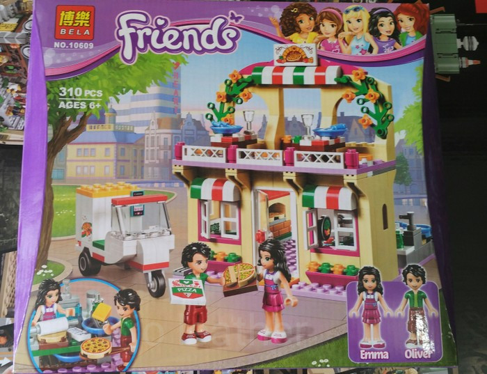 Jual Lego Bricks Kw Friends Emma Oliver Pizzastation Delivery Motor