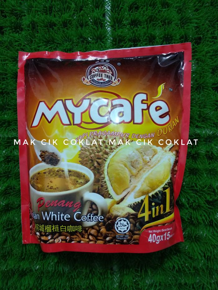 Coffee tree penang durian white coffee 600 gram isi 15