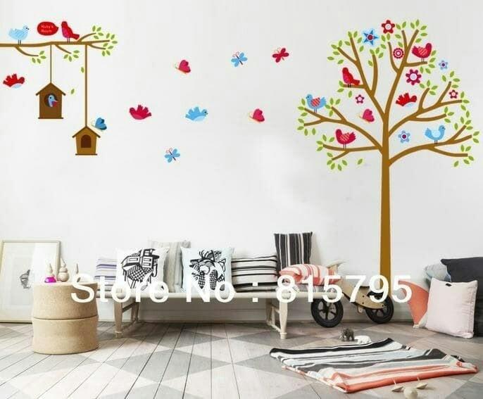 harga Wall sticker jumbo xl pohon dan rumah burung love bird Tokopedia.com