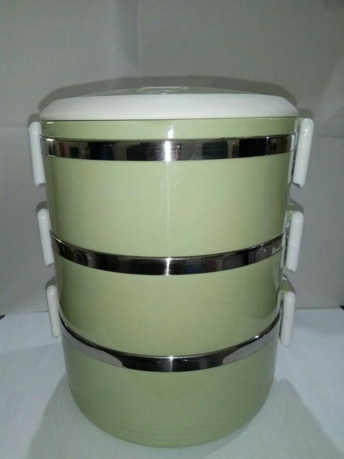 Rantang 3 Susun Kotak Makan Stainless Steel - Lunch Box Glossy