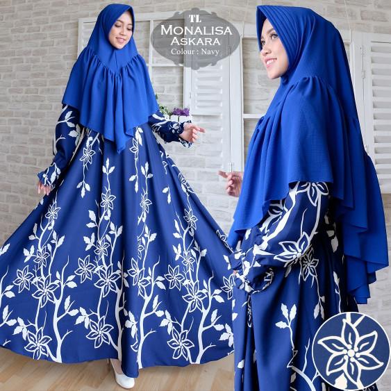 Jual Gamis Syari Monalisa Askara Baju Gamis Fashion 2in1 Ukuran