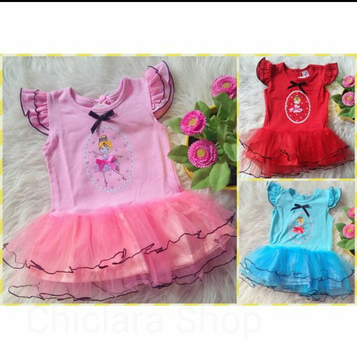 Foto Produk Set tutu balerina dress anak murah 6-18 bulan dari Chiclara Shop