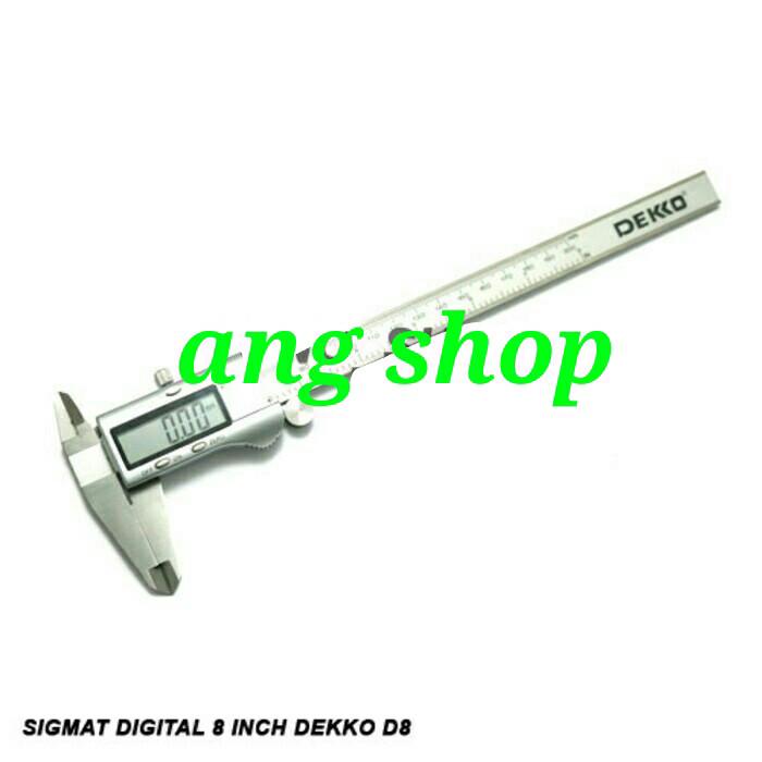 harga Dekko caliper 8 inch digital jangka sorong digital 200mm sigmat Tokopedia.com