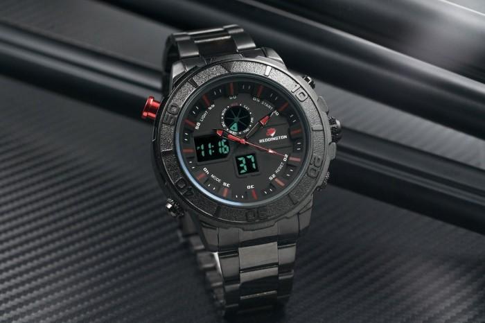 harga Jam tangan pria / cowok reddington original r650 rantai black red Tokopedia.com