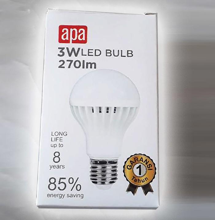 Bohlam Led 3w 6500k 270 Lumens Apa / Bohlam Hemat Listrik Fitting E27 - Blanja.com